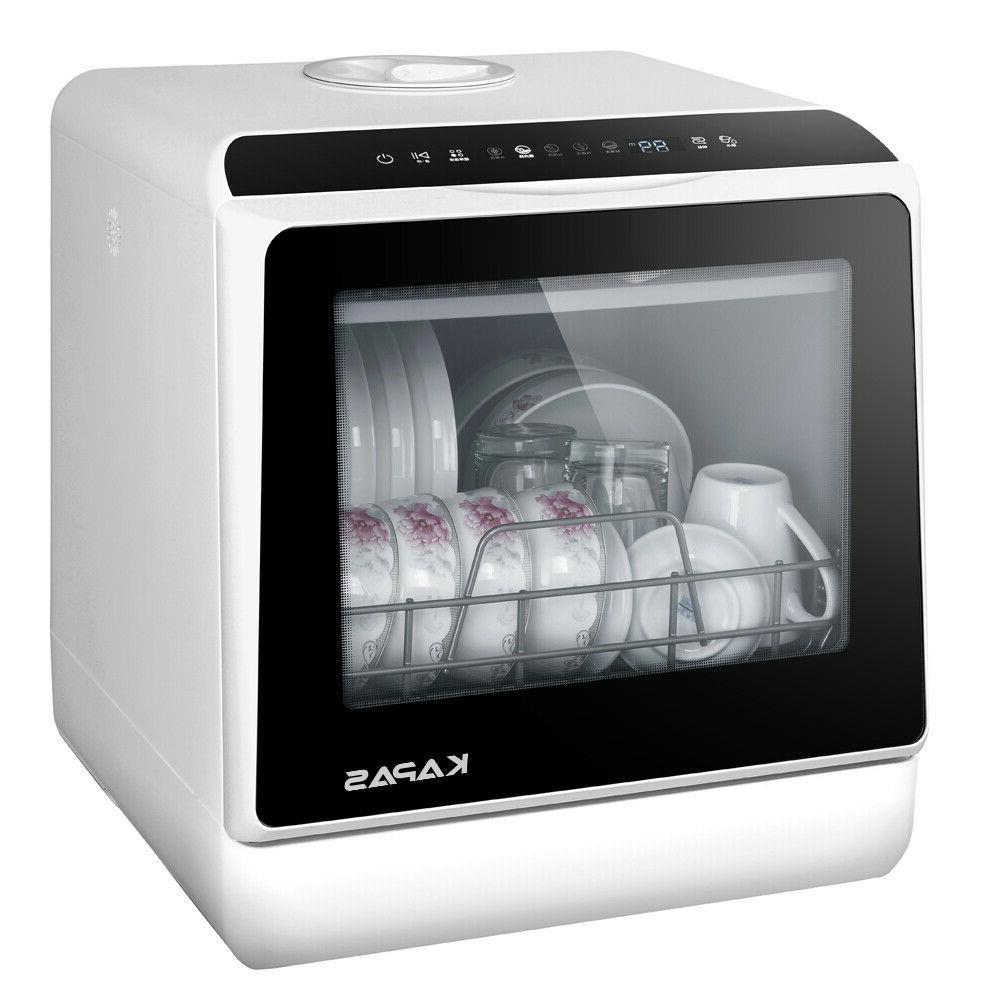 portable countertop dishwasher 5 washing programs built