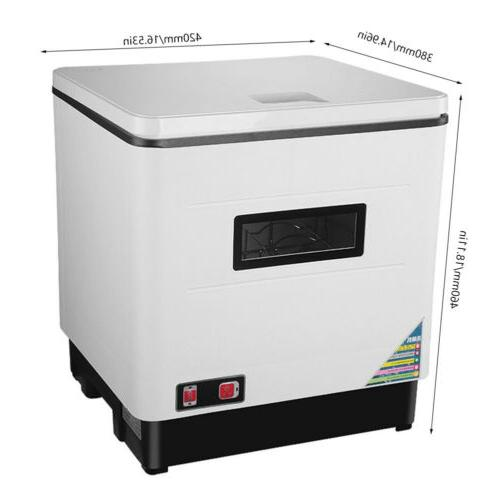 Portable Mini Automatic Dishwasher with Drying Rack 1500W