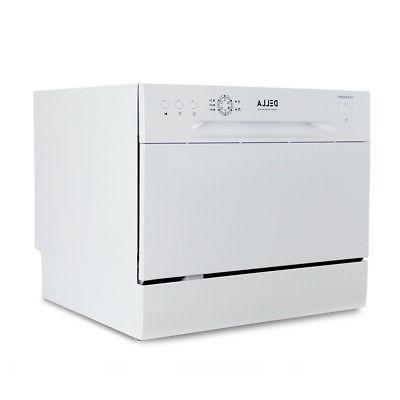 mini compact 6 place settings countertop dishwasher