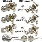 Satin Nickel Door Lever Handles Entry Keyed Lock Privacy Pas
