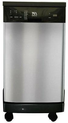 SUNPENTOWN SD-9241SS 18 inch Portable Dishwasher - Stainless