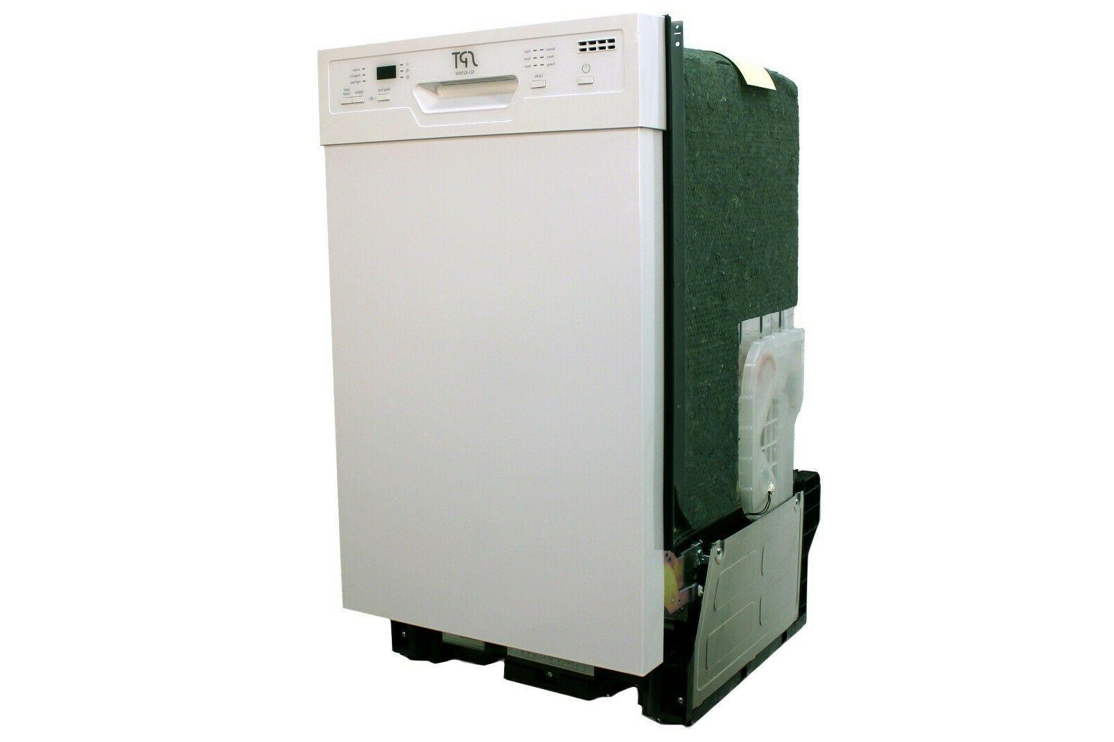 "Sunpentown 18"" Built-In Dishwasher w/Heating - White SD-9254W"