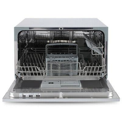 Stainless Portable Place Countertop Dishwasher,
