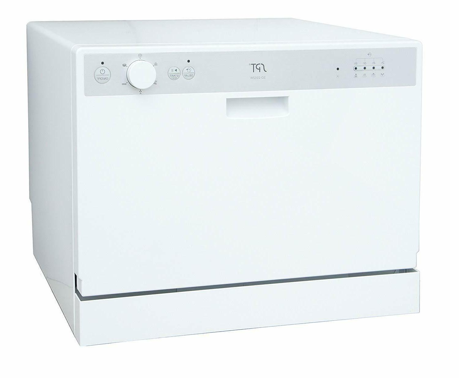 sunpentown countertop dishwasher with delay start white