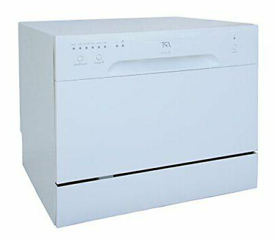 6 Place Settings White Countertop Dishwasher
