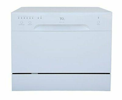 sunpentown sd 2213w countertop dishwasher in white