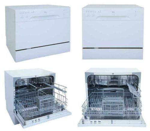 Sunpentown SPT Countertop Dishwasher White 6 Wash Programmab