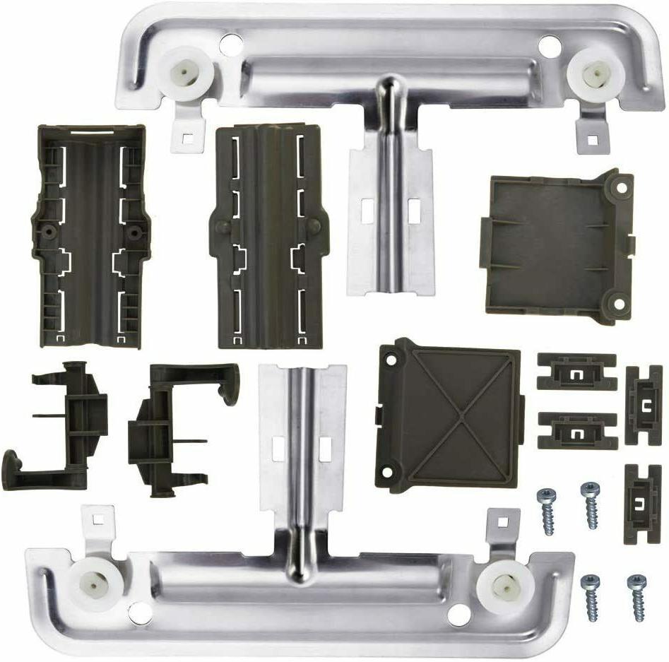 w10712395 dishwasher upper rack adjuster metal kit