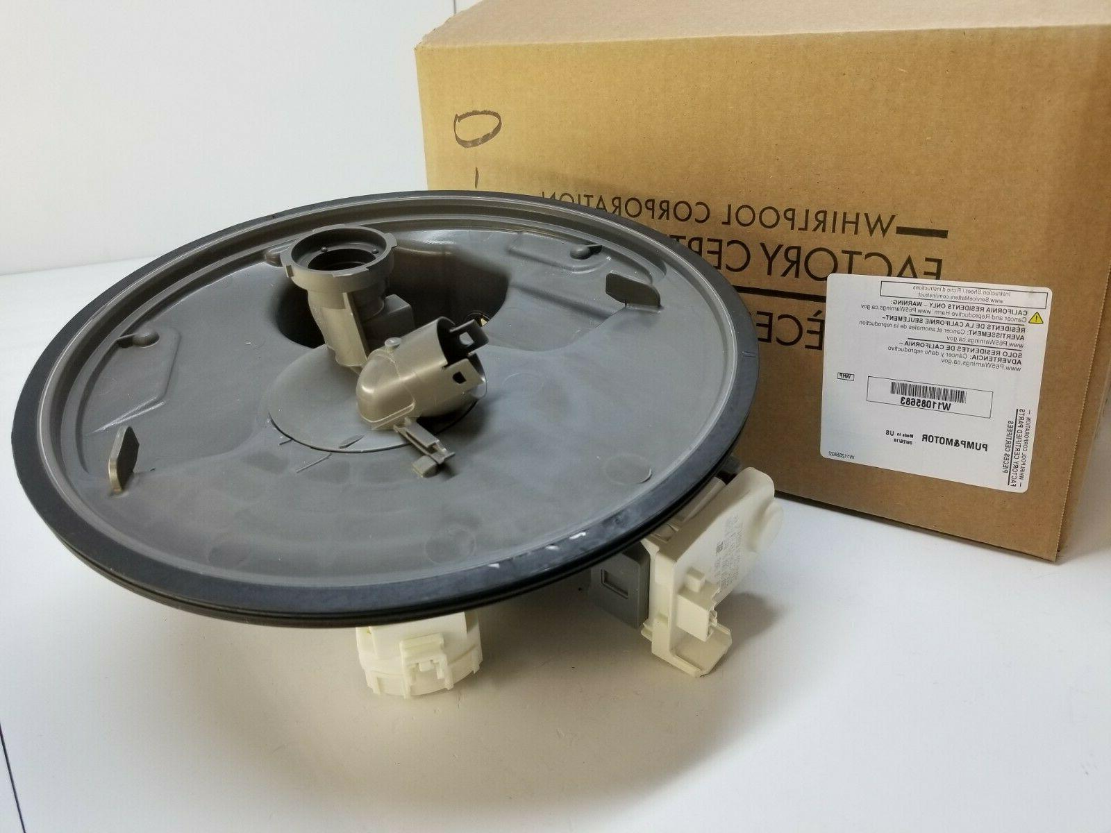 w11085683 dishwasher pump and motor new part