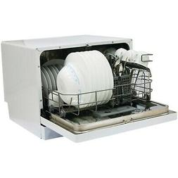Magic Chef MCSCD6W3 6 Place Setting Countertop Dishwasher Wh