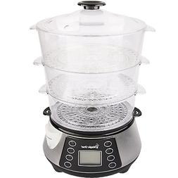 Magic Chef MCSFS12ST 3 Tier Food Steamer, 9.4X 15.4 X16.1, S