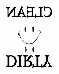 METAL DISHWASHER MAGNET Image Of White Smiley Face Clean Dir