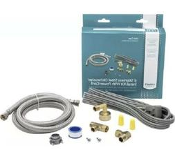 New Dishwasher Kit Water Line and Power Cord Kit  Stainless