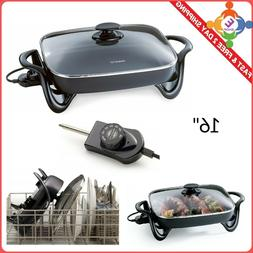 Non Stick Skillet Cookware Electric With Glass Lid Buffet Se