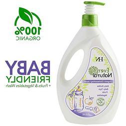 Organic Baby Dishwashing Cleaning Liquid - Fruit Vegetable W