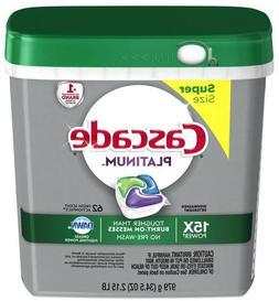 Cascade Platinum ActionPacs 62-Count Dishwasher Detergent Po