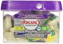 Cascade Platinum ActionPacs Dishwasher Detergent - Lemon Bur