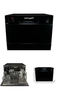 Portable Compact Countertop Dishwasher Black Home Dorm Room