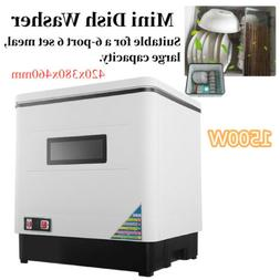 Portable 12L Dish Washer Automatic Countertop Dishwasher wit