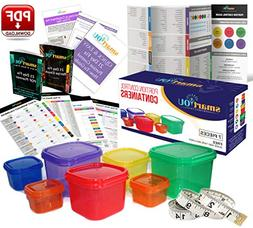 7 Piece Portion Control Containers Kit GUIDE +  21 DAY PDF P