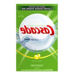 Cascade Powder Dishwasher Detergent, Lemon Scent, Case Pack,