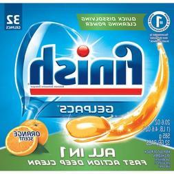 Finish Powerball Tabs Dishwasher Detergent Tablets, Orange S