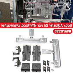 Rack Adjuster Kit Set W10712395 For Whirlpool Dishwasher AP5