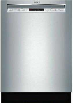 "Bosch SHEM63W55N 24"" 300 Series 44 dBA Dishwasher in Stainle"