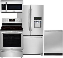 Frigidaire 4-Piece Smudge Proof Stainless Steel Set with FGH