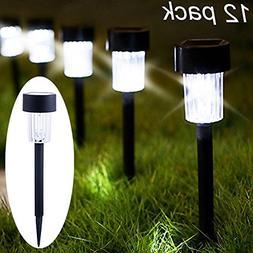 Maggift 12 Pack Solar Pathway Lights Solar Garden Lights Out