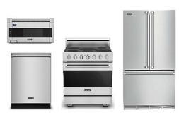 Viking Special Value Package: Refrigerator, Range, Microwave