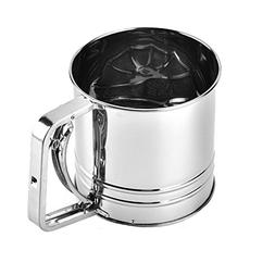 Stainless Steel Flour Sifter for Baking,Flour Sifter with Cr
