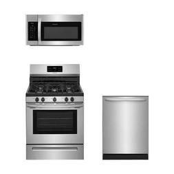 Frigidaire 3-Piece Stainless Steel Kitchen Package with FFGF
