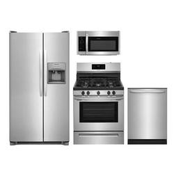 4-Piece Stainless Steel Kitchen Package FFSS2615TS 30 Side b