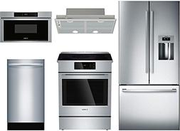 Bosch 5-Piece Stainless Steel Kitchen Package with B26FT50SN
