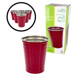 Stainless Steel Party Cups- Unbreakable Solo Cups 16 oz - Di