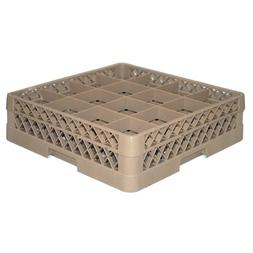 Traex TR8D Beige 16 Compartment Glass Rack with 1 Extender