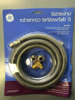 universal dishwasher connector 6 ft stainless steel