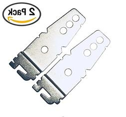 2-Pack UNIVERSAL Undercounter Dishwasher Mounting Bracket -
