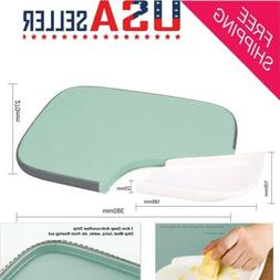 utility plastic kitchen cutting board with juice