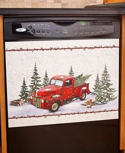 Vintage Country Red Pick Up Truck Dishwasher Magnet - Home K
