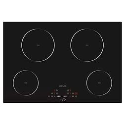 Whirlpool W5CE3024XB 30 Smoothtop Electric Cooktop with 4 Ra