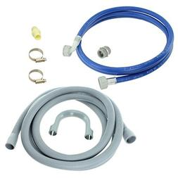 Spares2go Water Fill Pipe & Drain Hose Kit For Bosch Dishwas