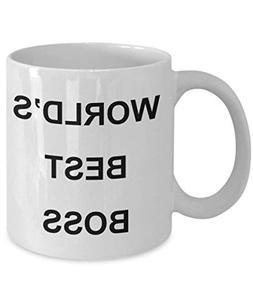 UNigogo Worlds Best Boss Mug The Office Coffee Mugs Micheal