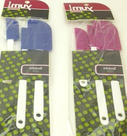 YUM 3 PACK SPATULAS IN ASSORTED SIZES BLUE OR ROSE COLOR DIS